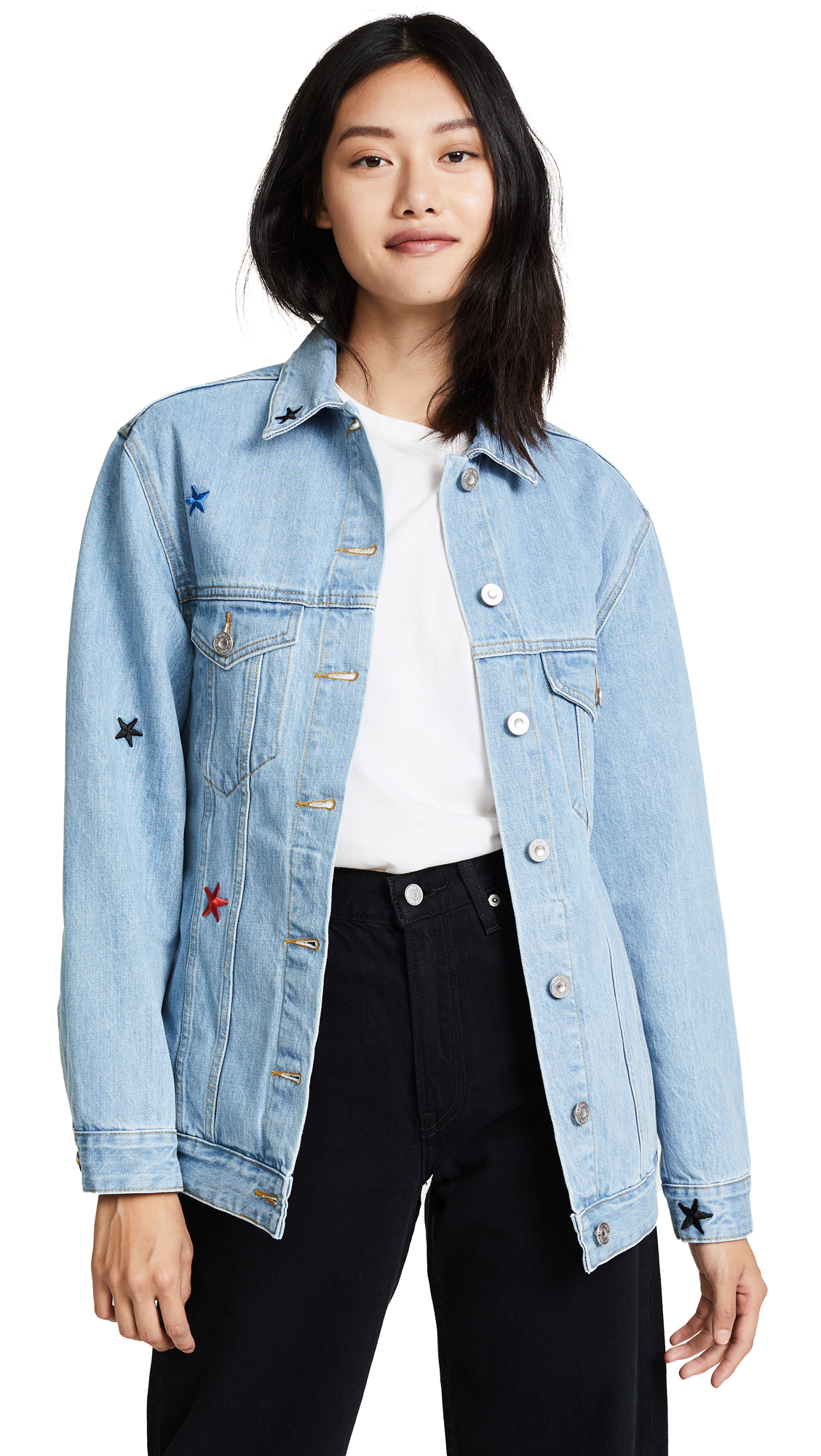 Etre Cecile Oversized Denim Jacket - Light Blue