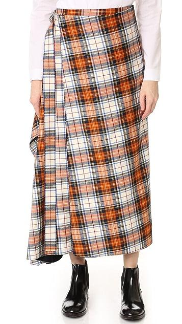 Cedric Charlier Plaid Skirt