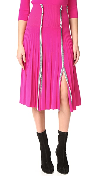 Cedric Charlier Pleated Skirt - Fuchsia