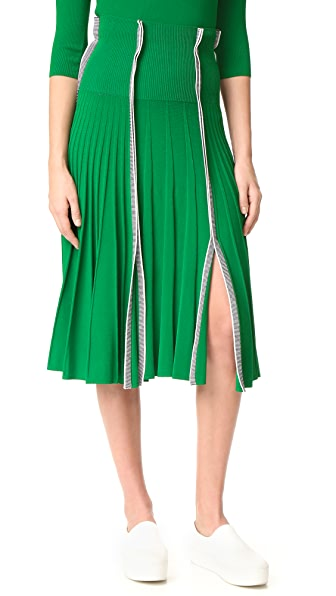 Cedric Charlier Pleated Skirt at Shopbop