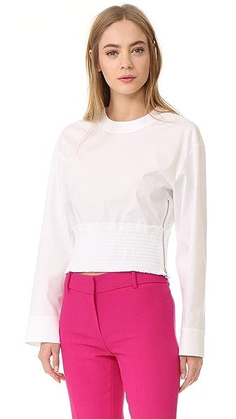 Cedric Charlier Long Sleeve Blouse - White