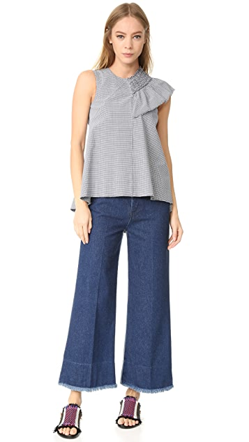 Cedric Charlier Flared Jeans