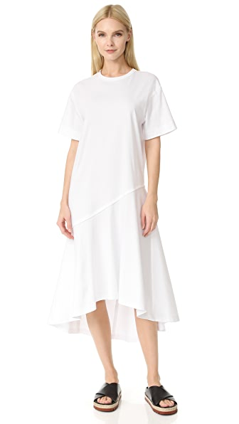Cedric Charlier Short Sleeve Dress - White