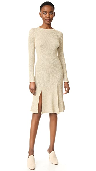 Cedric Charlier Long Sleeve Dress