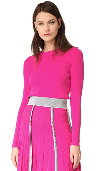 Cedric Charlier Crop Sweater - Fuchsia