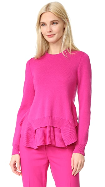 Cedric Charlier Long Sleeve Sweater - Fuchsia