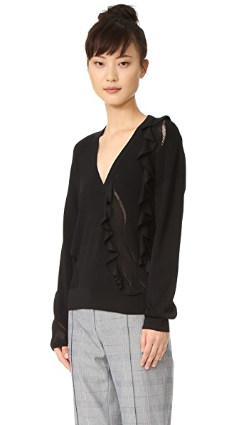 Cedric Charlier Long Sleeve Sweater - Black