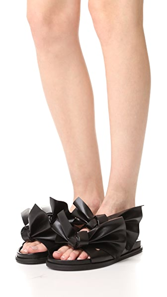 CEDRIC CHARLIER Knotted Strap Sandals