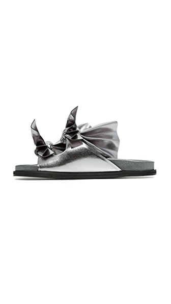 CEDRIC CHARLIER tie knot detail sandals