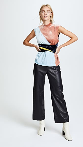 Cedric Charlier Sleeveless Blouse