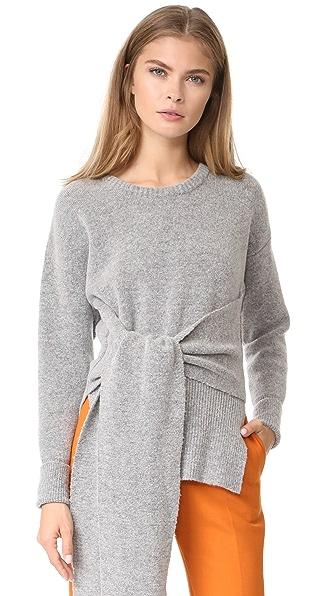 Cedric Charlier Tie Sweater - Grey