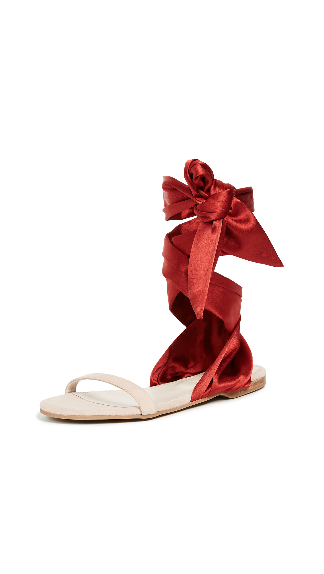 Cedric Charlier Wrap Sandals - Red