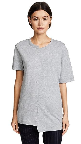Cedric Charlier Asymmetrical T-Shirt - Grey