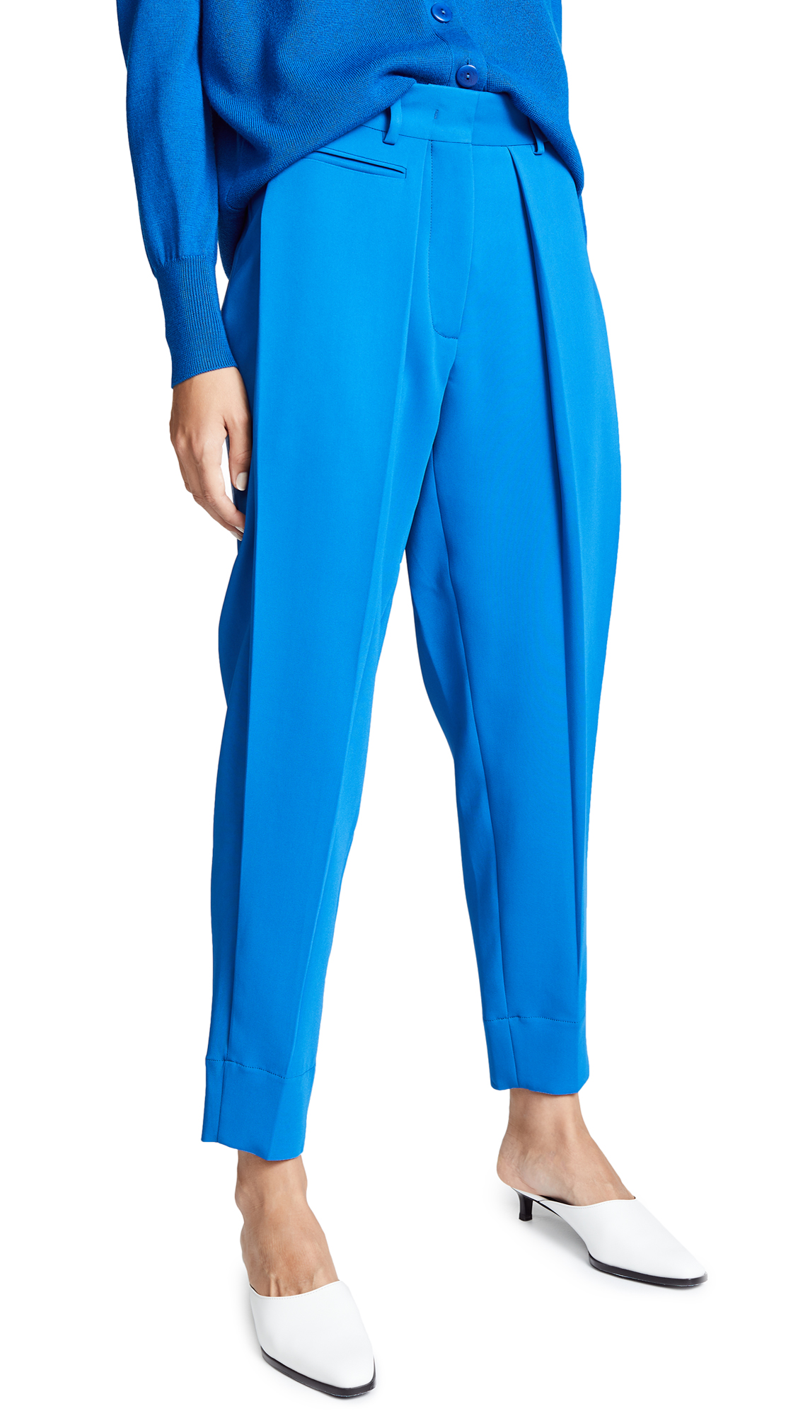 Cedric Charlier Cropped Trousers - Blue