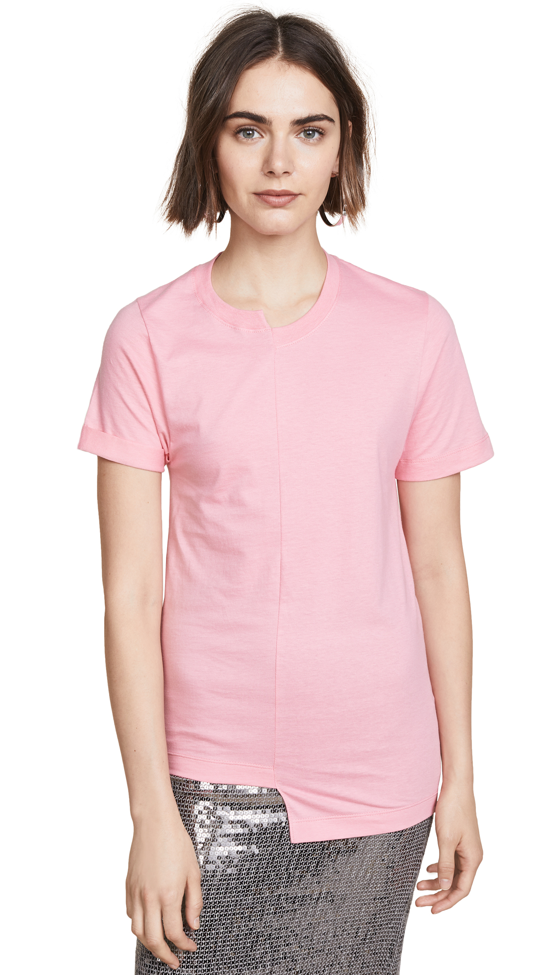Cedric Charlier x Fruit of the Loom Asymmetrical Tee - Pink