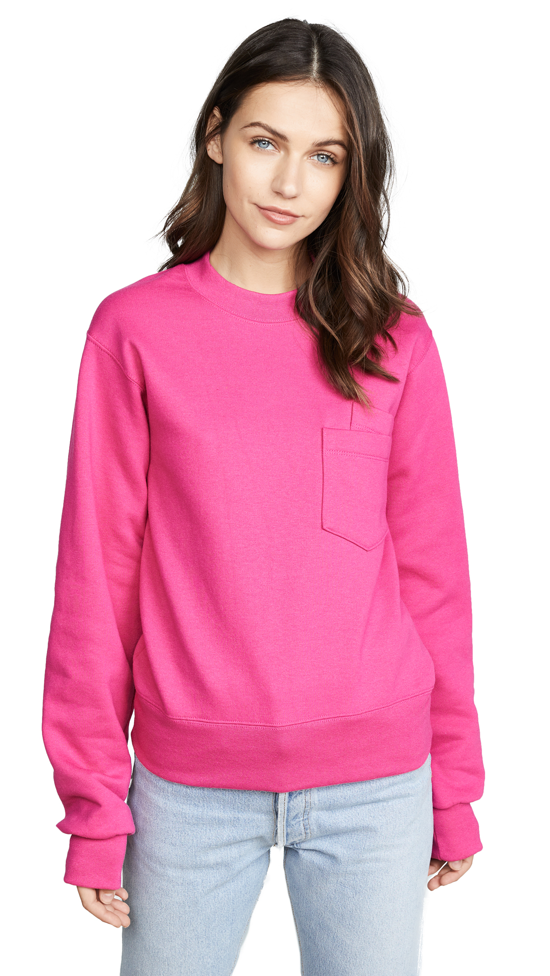 Cedric Charlier Double Pocket Pullover - Fuschia