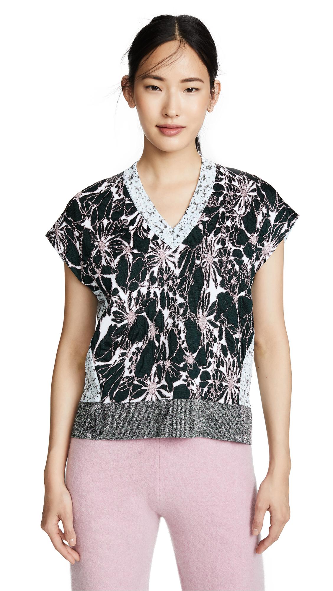 Cedric Charlier Graphic Sweater - Grey Multi