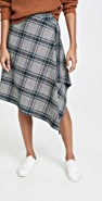Cedric Charlier Plaid Wrap Skirt