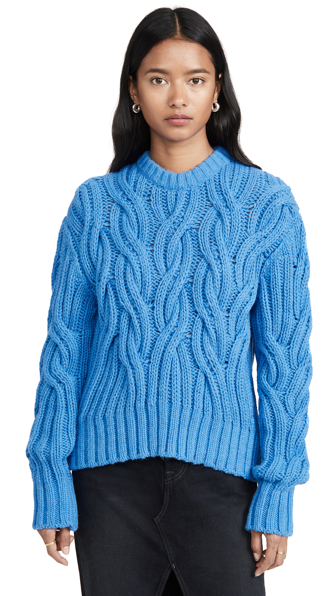 Cedric Charlier Cable Sweater - Blue