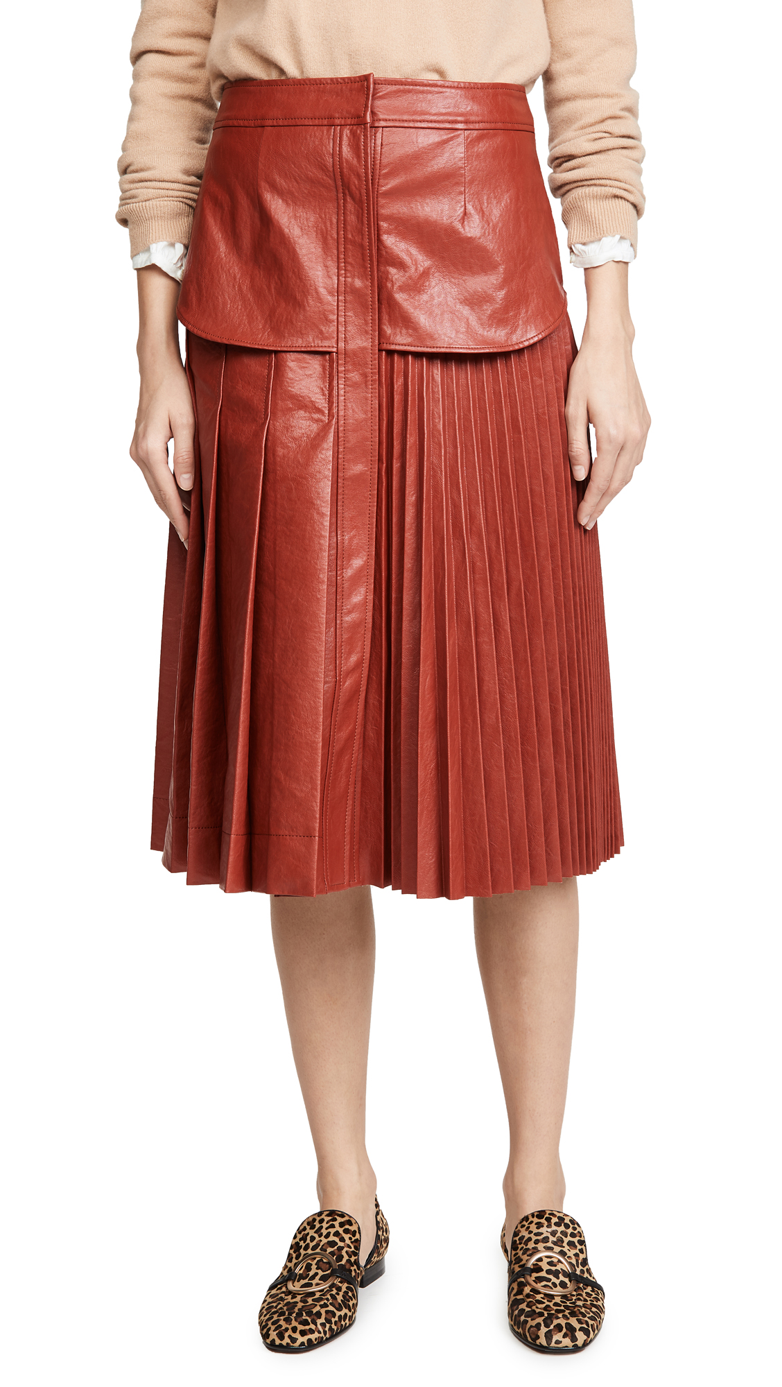 Buy Cedric Charlier online - photo of Cedric Charlier Eco Faux Leather Skirt