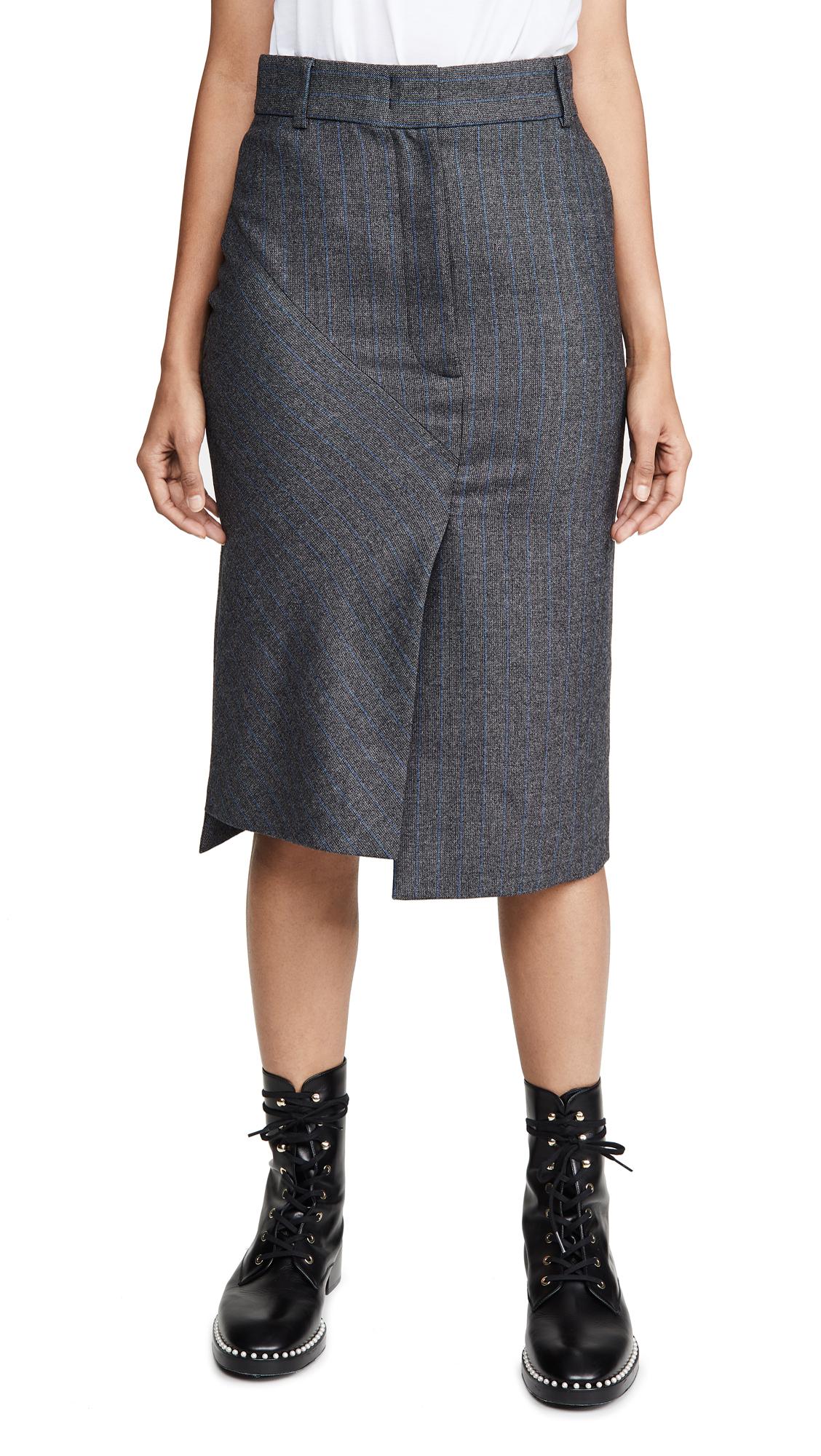 Buy Cedric Charlier online - photo of Cedric Charlier Grey Pinstripe Skirt