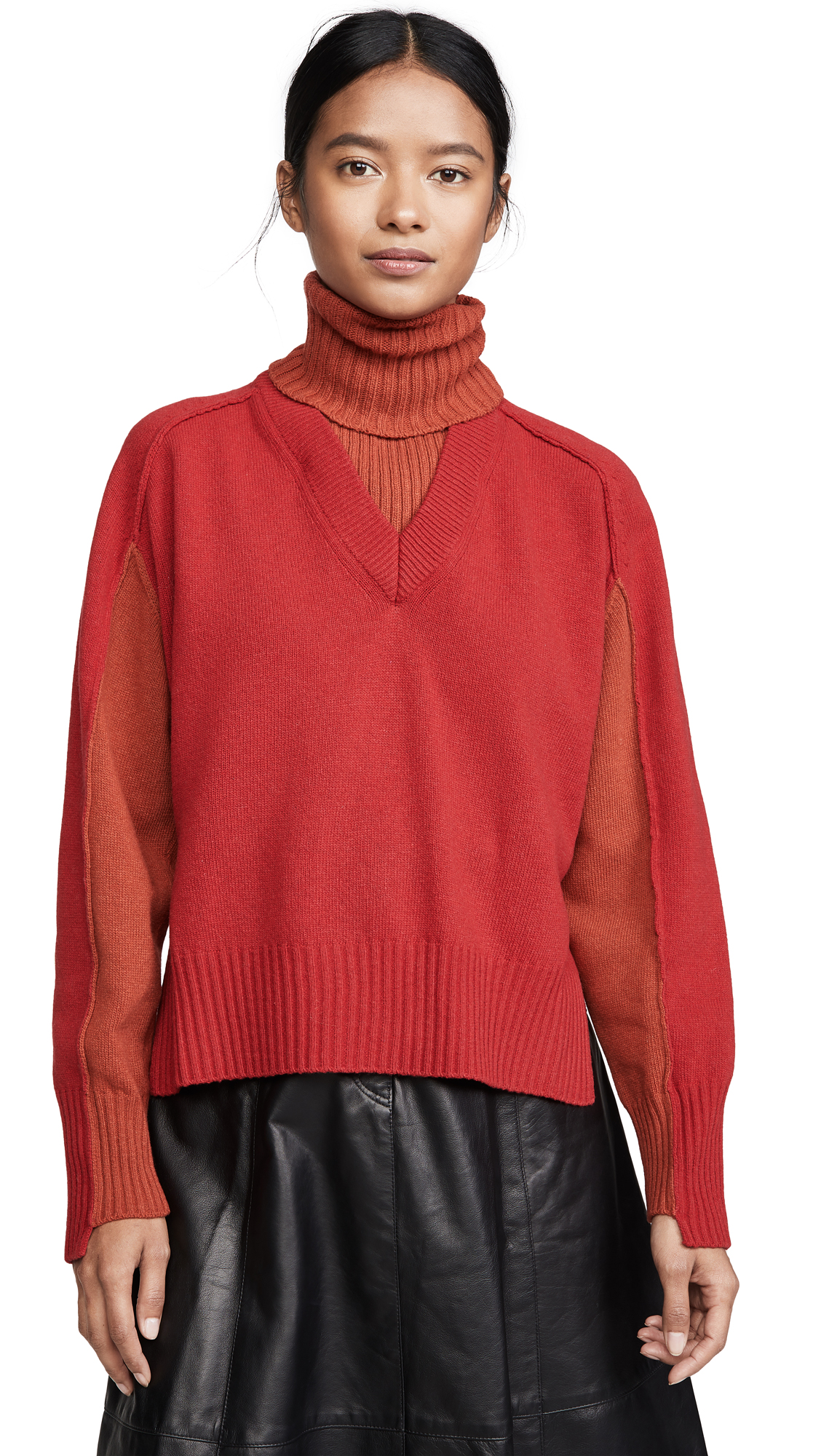 Cedric Charlier Red Wool Sweater - Red