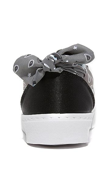 Chiara Ferragni Bandana Slip On Sneakers