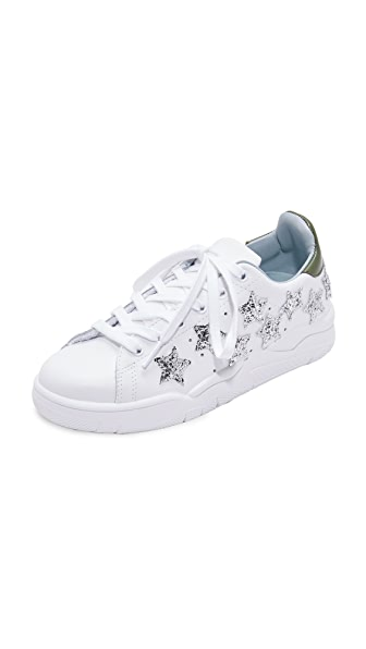 Chiara Ferragni Heart Low Sneakers - White/Silver