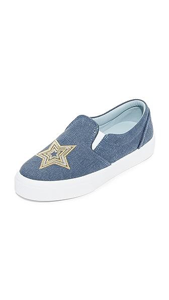 Chiara Ferragni Moon & Star Slip On Sneakers - Blue Jeans