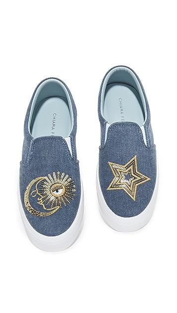 Chiara Ferragni Moon & Star Slip On Sneakers