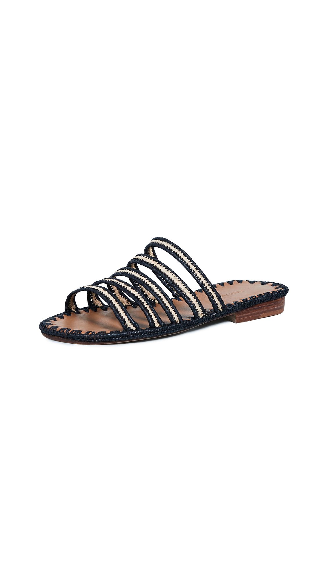 Carrie Forbes Asmaa Multiband Slides - Noir/Natural