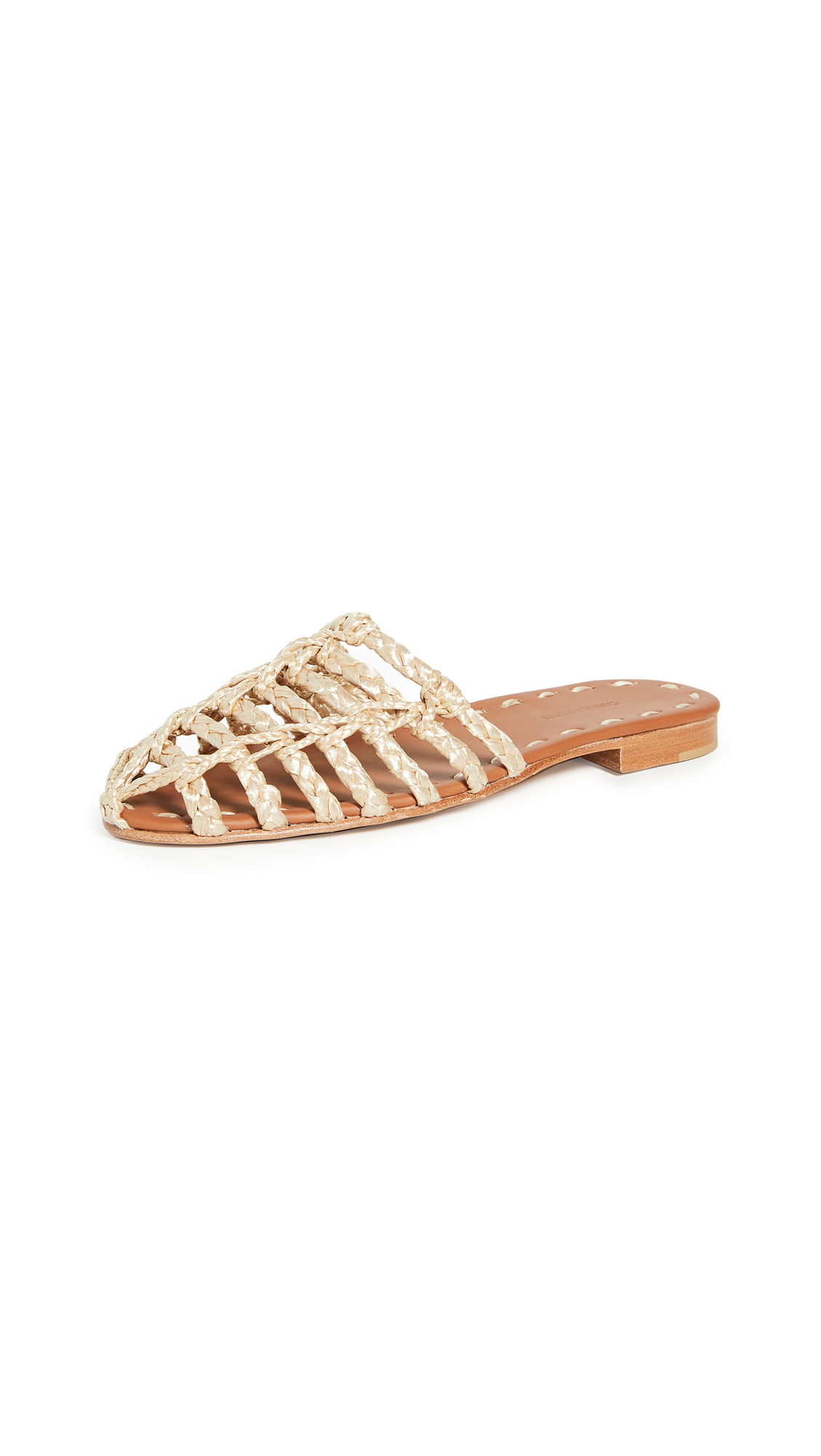 Buy Carrie Forbes Rashida Flat Mules online, shop Carrie Forbes