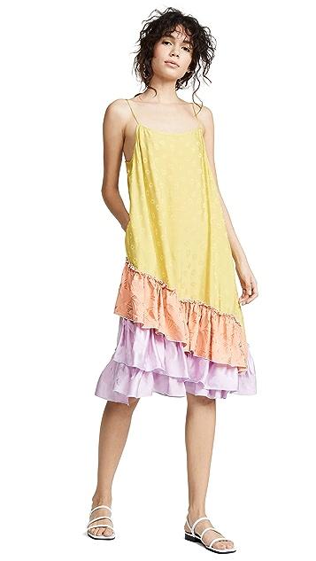 Photo of  CF Goldman Short Ruffle Slip Dress - shop CF Goldman dresses online sales
