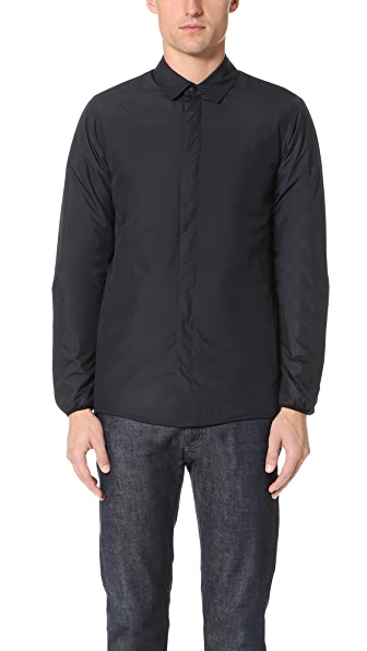 Capital Goods Padded Nylon Shirt Jacket