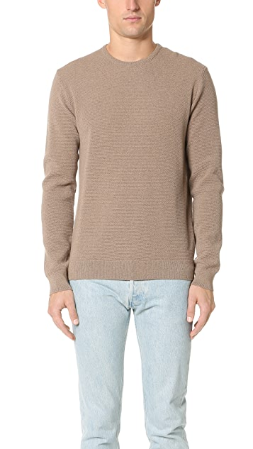 Capital Goods Pique Merino Crew Neck Sweater