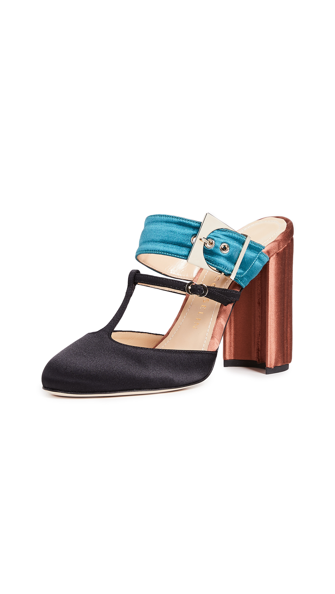 Chloe Gosselin Olympe Mules - Teal/Orange