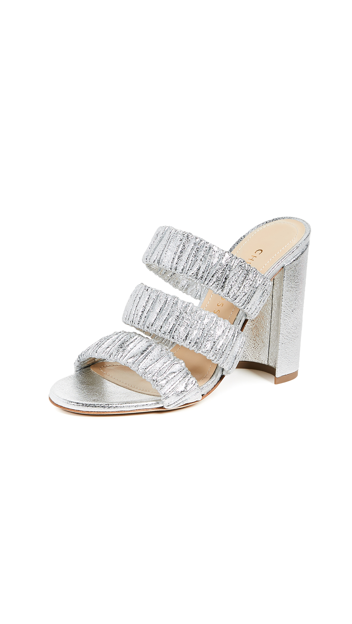 Chloe Gosselin Delphinium 100 Mules - Silver