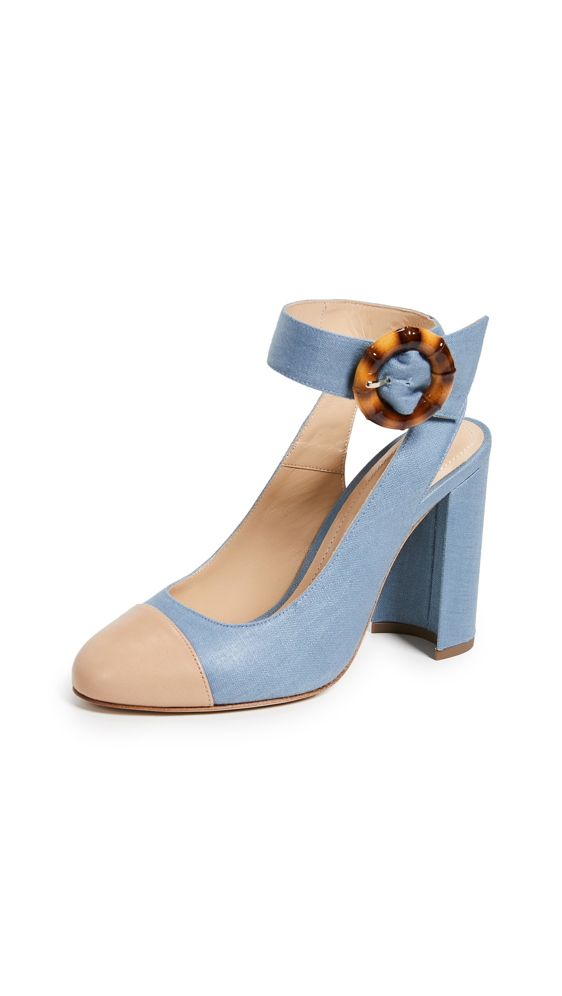 Chloe Gosselin Ellen Pumps - Denim/Noisette