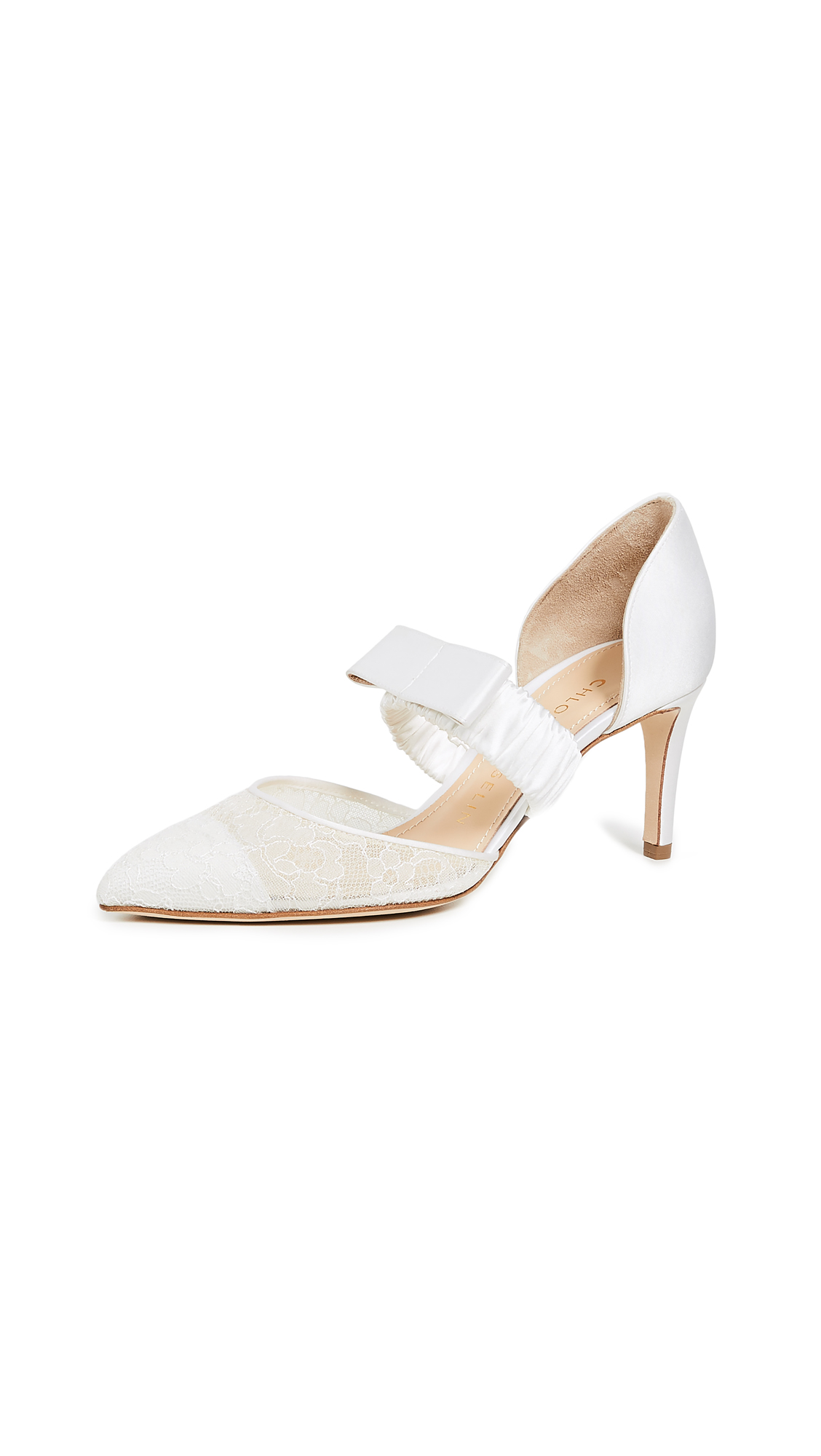 Chloe Gosselin Lily 70 Lace Pumps - White