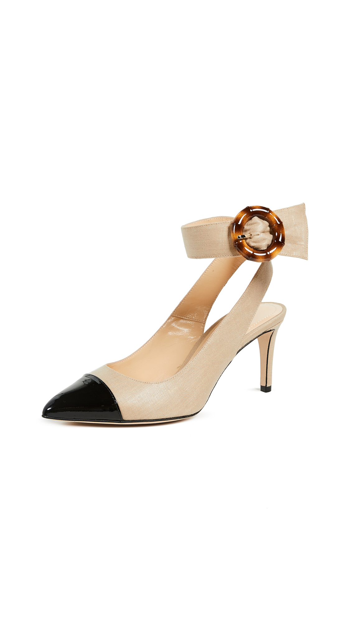 Chloe Gosselin Myra Pumps - Beige/Black