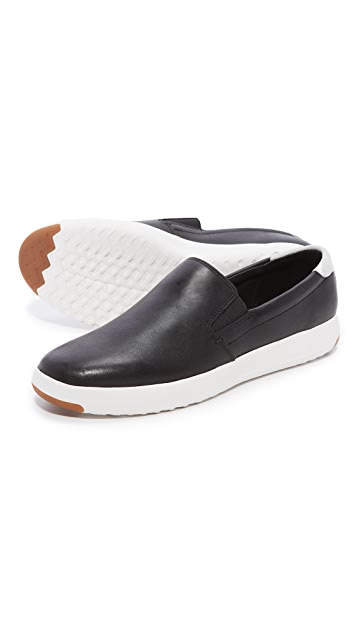 Cole Haan GrandPro Leather Slip On Sneakers