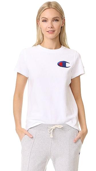 Champion Premium Reverse Weave Crew T Shirt - White