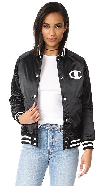 Champion Premium Reverse Weave Bomber Jacket - Black
