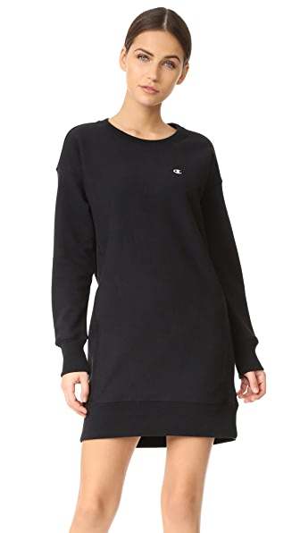 Champion Reverse Weave Long Sleeve Dress