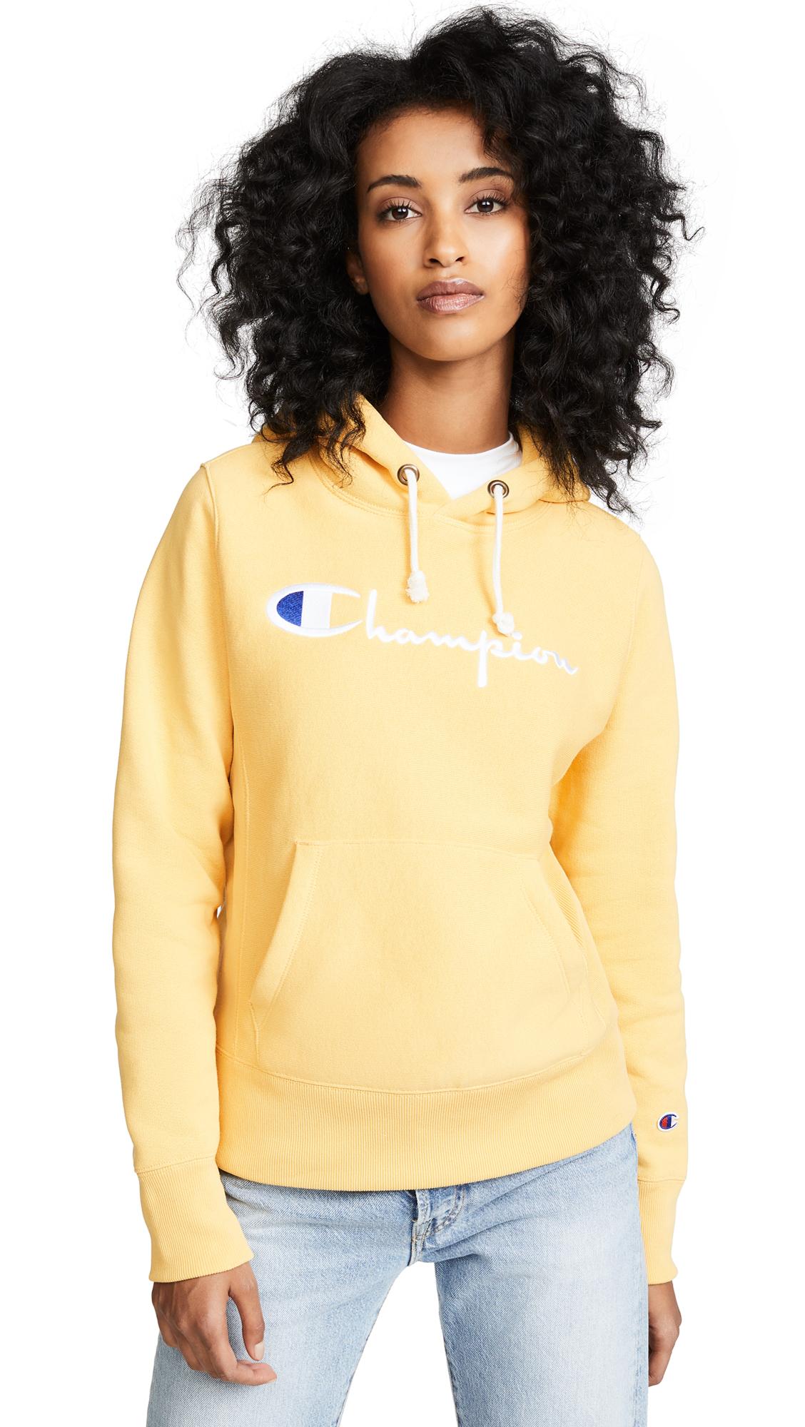 Champion Premium Reverse Weave Hooded Sweatshirt - Yellow