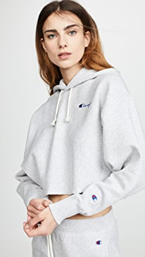 2bb32b238beab Champion Premium Reverse Weave. Cropped Hooded Sweatshirt