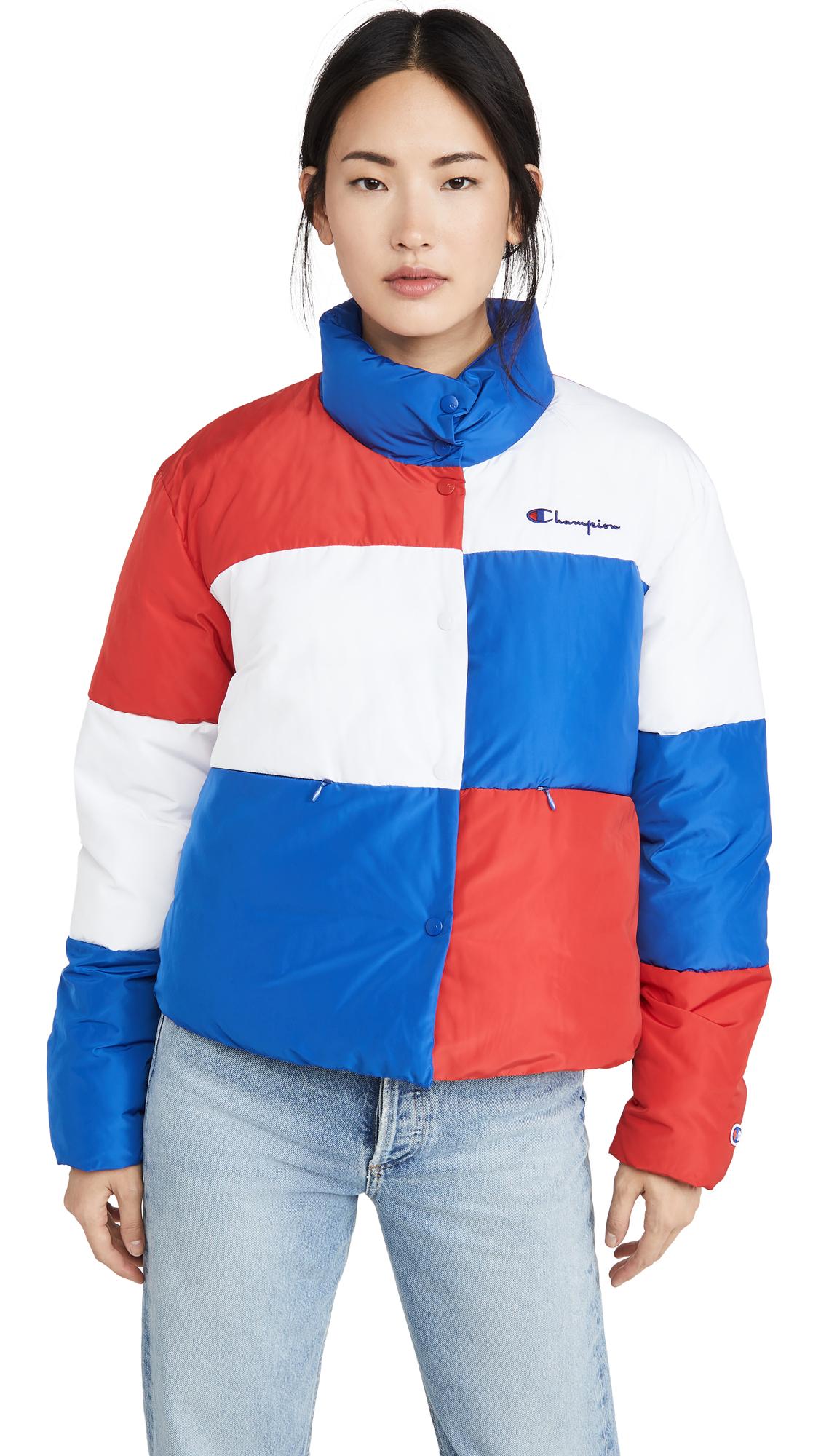 Buy Champion Premium Reverse Weave Colorblock Puffer Jacket online beautiful Champion Premium Reverse Weave Jackets, Coats, Down Jackets