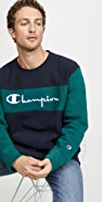 Champion Premium Reverse Weave Colorblock Crew Neck Sweatshirt