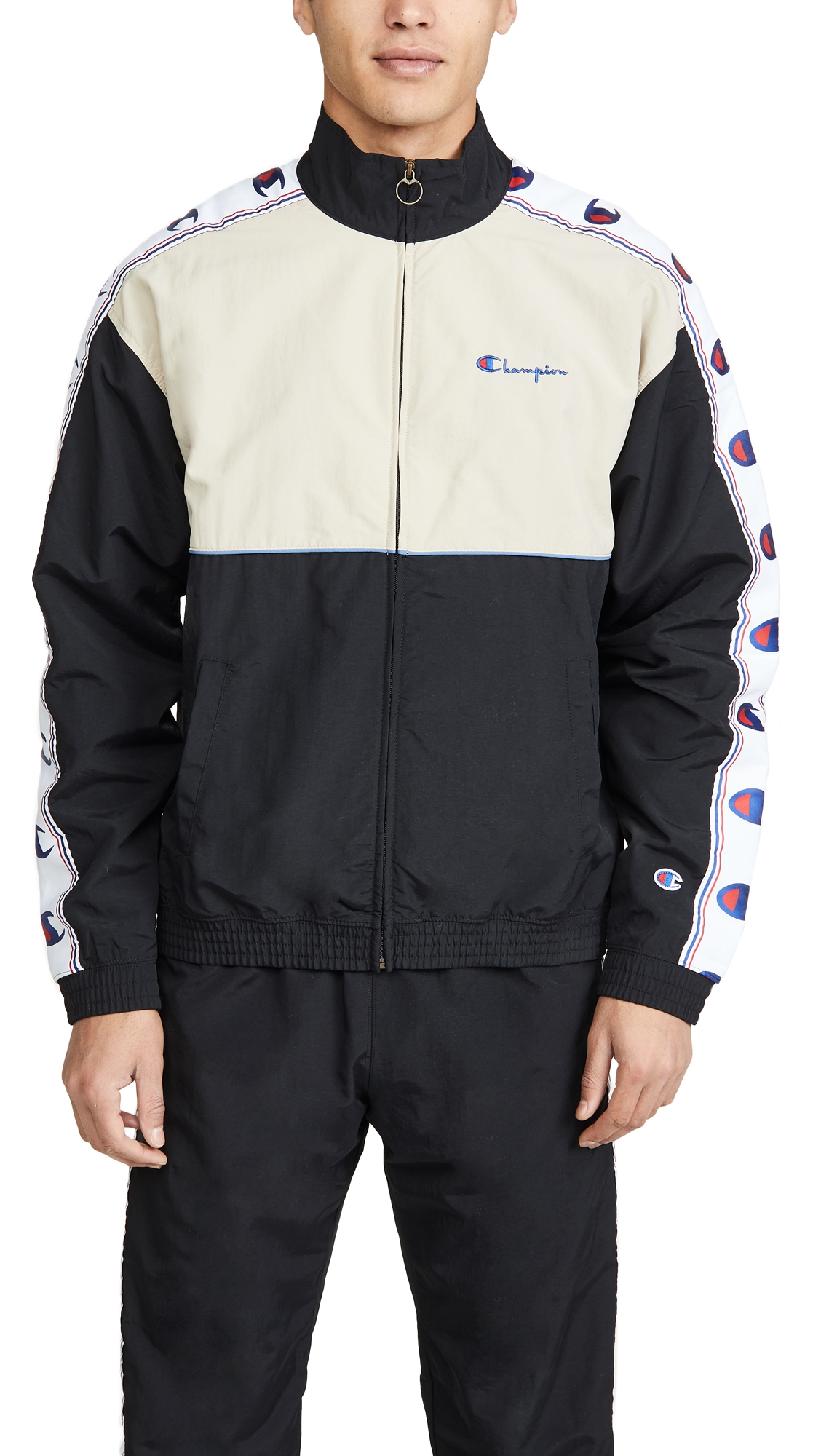 Champion Jackets FULL ZIP TRACK JACKET WITH TAPING