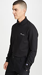 Champion Premium Reverse Weave Mock Neck Long Sleeve T-Shirt